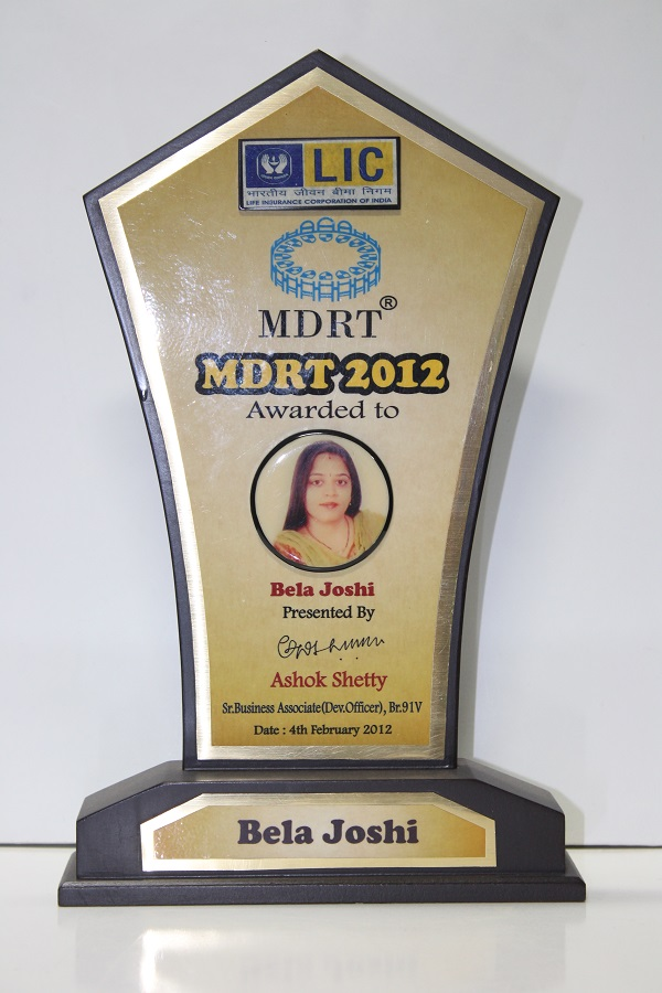 LIC - Achieved the MDRT criteria in 2012