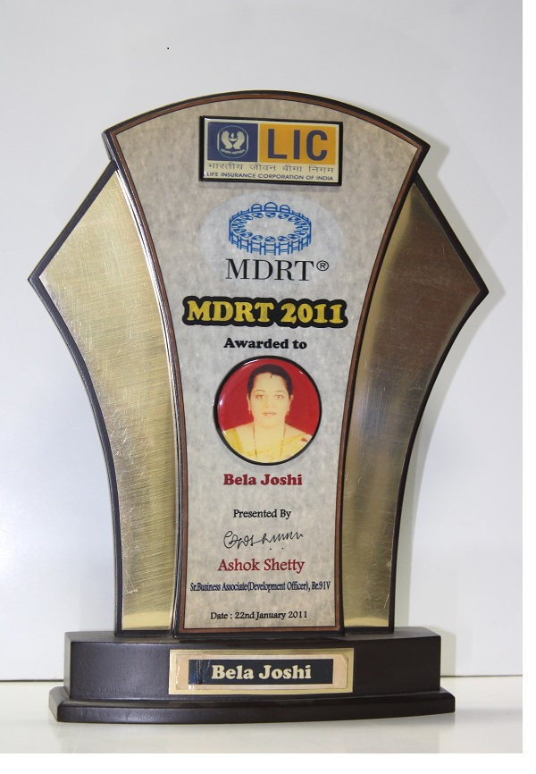 LIC  - Achieved the MDRT criteria in 2011