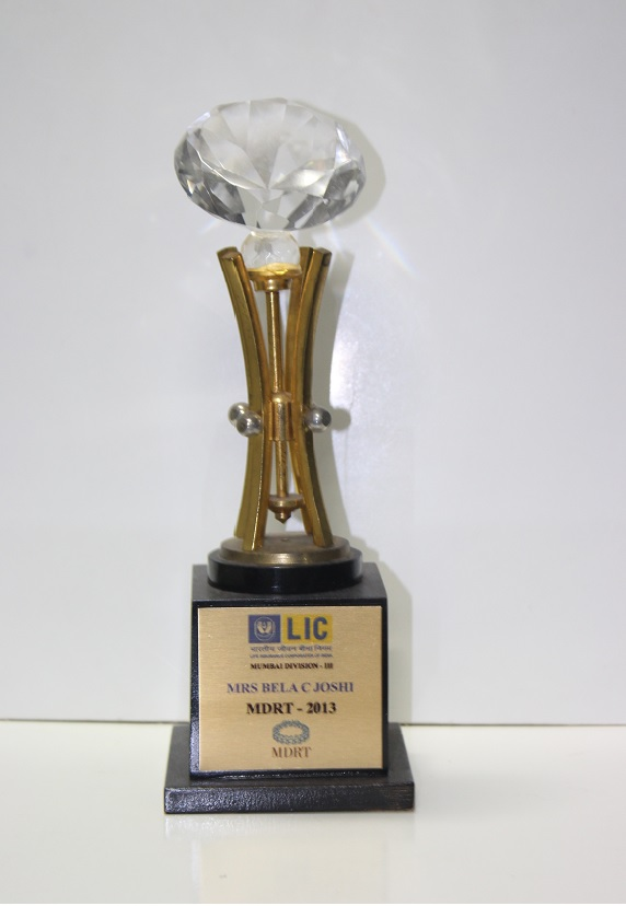 LIC - Achieved the MDRT criteria in 2013